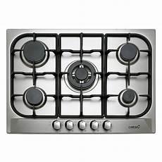 plaque de cuisson gaz 5 foyers inox cata apelson l705ti