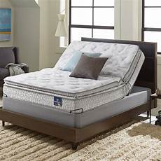 shop serta extravagant plush pillow top queen size mattress with elite pivot adjustable
