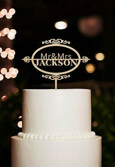 monogram personalized wedding cake topper decorations with