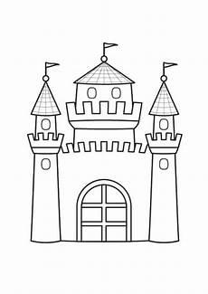 Ausmalbild Prinzessin Schloss Prinzessin Prinzessinnenschloss Ausmalen Zum Ausmalen