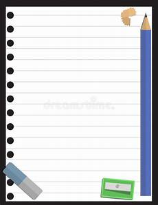 notepad blank page and stationery 1 stock vector illustration of notice educate 23258020