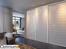 portes de placard optimum verre laqu 233 stri 233 blanc en 2019