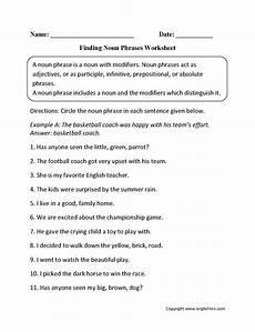 grammar noun worksheets free 24896 finding noun phrases worksheets nouns worksheet teaching nouns phonics words