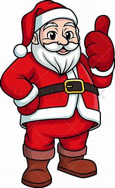 santa claus giving the thumbs up clipart vector