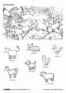 bauernhof haustiere nutztiere tiere mit bildern