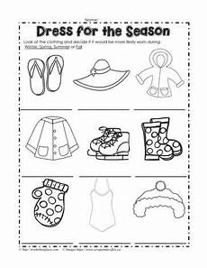 worksheets seasons and clothes 14754 dress for the season worksheets