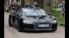 new audi r8 v10 plus black on black sound