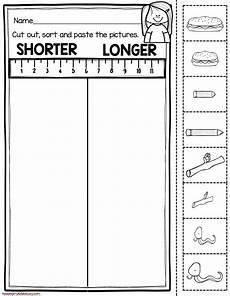 measurement length worksheets for kindergarten 1507 measurement and data kindergarten math unit freebies kindergarten math kindergarten