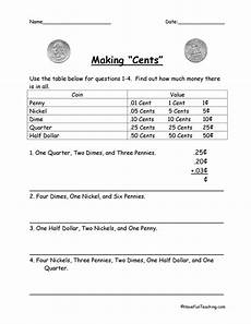 introducing decimals worksheets 7174 cents adding decimals worksheet teaching