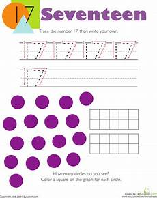 counting tracing numbers worksheets 8044 tracing numbers counting 17 numbers kindergarten numbers preschool kindergarten math