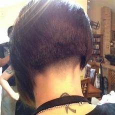 inverted asymmetric bob with buzzed nape just napes pinterest asymmetric bob bobs and