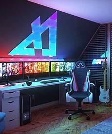 Gaming Zimmer Deko - nanoleaf light panels smarter kit original 9x panels
