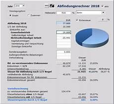 Excel Abfindungsrechner Zur Berechnung Der Einkommensteuer