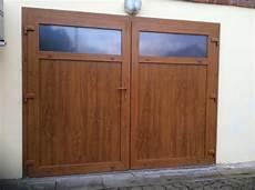 portes de garage battantes pvc ternois fermetures