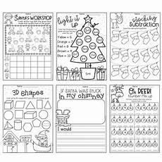christmas worksheet booklet kindergarten first grade by my teaching pal