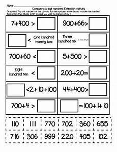 decimal expansion worksheets 7117 ccss aligned 2 nbt 4 compare 3 digit numbers extension activity expanded form 2nd grade math