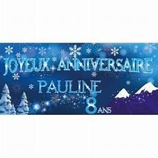 une banderole d anniversaire sur le th 232 me reine des neiges