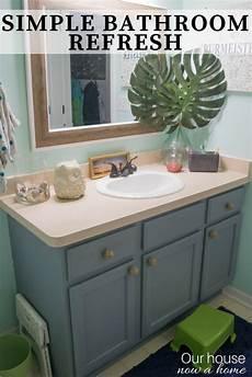 Easy Bathroom Makeover Ideas Easy Bathroom Refresh Simple Makeover Ideas Our House