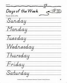 cursive handwriting worksheets days of the week 21350 handwriting for cursive day of the week wednesday 2nd grade cursive