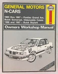 car maintenance manuals 1987 buick somerset user handbook details about haynes owners workshop manual 38025 1420 general motors n cars 1985 to 1987