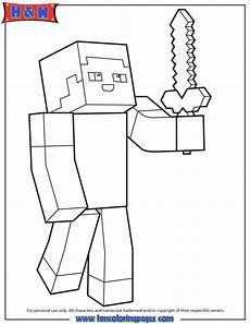 Malvorlagen Minecraft Steve Minecraft Steve Coloring Pages Papieroplastyka Do