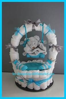 Idée Cadeau Baby Shower Cadeau Original Naissance Bapt 234 Me G 226 Teau De Couches Gar 231 On