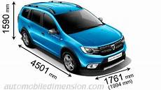 Dimensions Of Dacia Cars Showing Length Width And Height