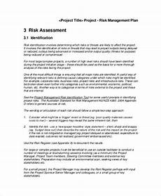 Risk Management Plan Template Pdf Free Photos