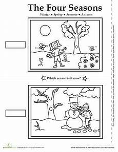 free printable worksheets on seasons kindergarten 14912 four seasons activity placemat seasons activities seasons kindergarten seasons worksheets