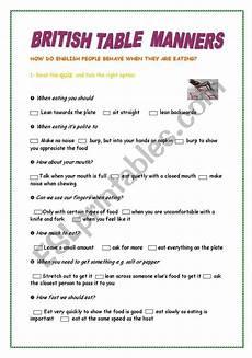 table manners esl worksheet by manoushka