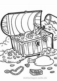 malvorlage schatztruhe piraten kostenlose ausmalbilder