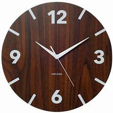 designer karlsson wanduhr wood numbers uhr holz optik