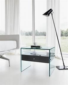 nachttisch glas nachttisch aus glas secret by tonelli design