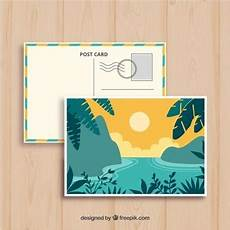postcard template year 5 postcard vectors photos and psd files free