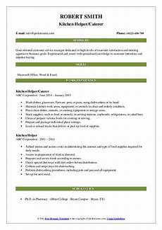 kitchen helper resume sles qwikresume