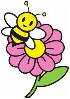 Gambar Bunga Kartun Dengan Lebah Kartun Gambar Bunga