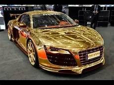 most expensive car gold car in dubai 2015 porsche gold car youtube