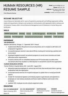 human resources hr resume sle writing tips rg