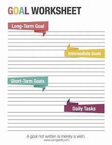 how to goals and achieve them to be a gym and goals worksheet