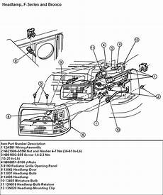 94 ford ranger headlight wiring diagram 94 ford f150 need to change the headlight out assembly