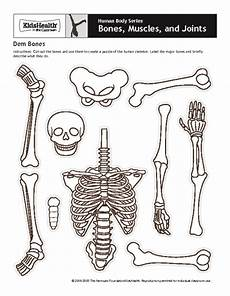 human body series bones muscles and joints dem bones printables template for 4th 8th