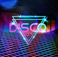Retro Stil 80er Jahre Disco Design Neon Premium Vektor