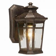 home depot outside lights home decorators collection waterton 1 light dark ridge bronze outdoor wall lantern 23122 the