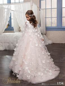 kids wedding dresses with butterfly wraps 2017 pentelei