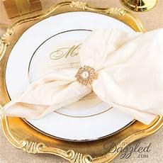 rhinestone napkin rings wedding in bulk emmaline bride