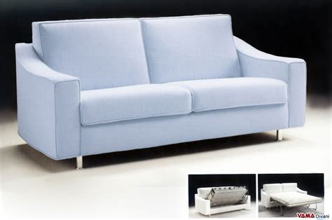 Contemporary Fabric Double Sofa Bed With Removable Cover