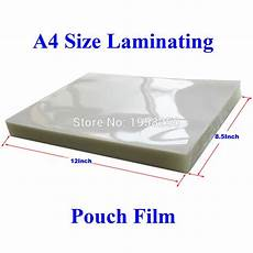 10 sheets 100mic 4mil a4 size pvc clear glossy 2flap laminating pouch for laminator in