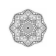 simple mandala stock vector illustration of