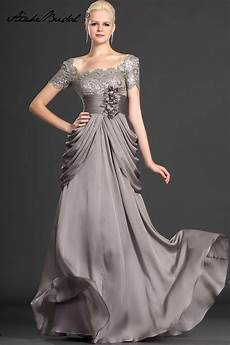mother of the groom dresses elegant a line cap sleeve gray lace chiffon mother of the bride