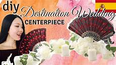 destination wedding idea diy fan centerpiece easy travels well youtube